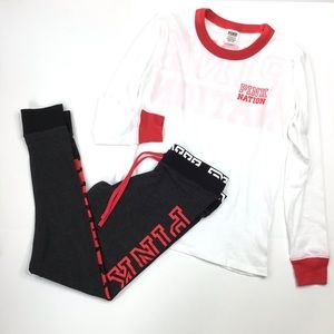 Pink Victoria's Secret long sleeve t-shirt